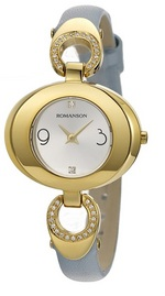 ROMANSON Ladies Leather watch RN0391CL1GAS1G